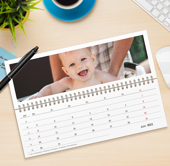 Calendrier photo de bureau