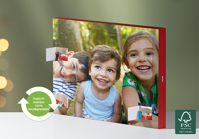 Calendrier photo de l'Avent CEWE <br />avec chocolats kinder®