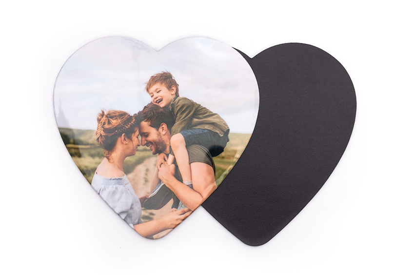 Magnets photo cœur et carré​ (lot de 10)